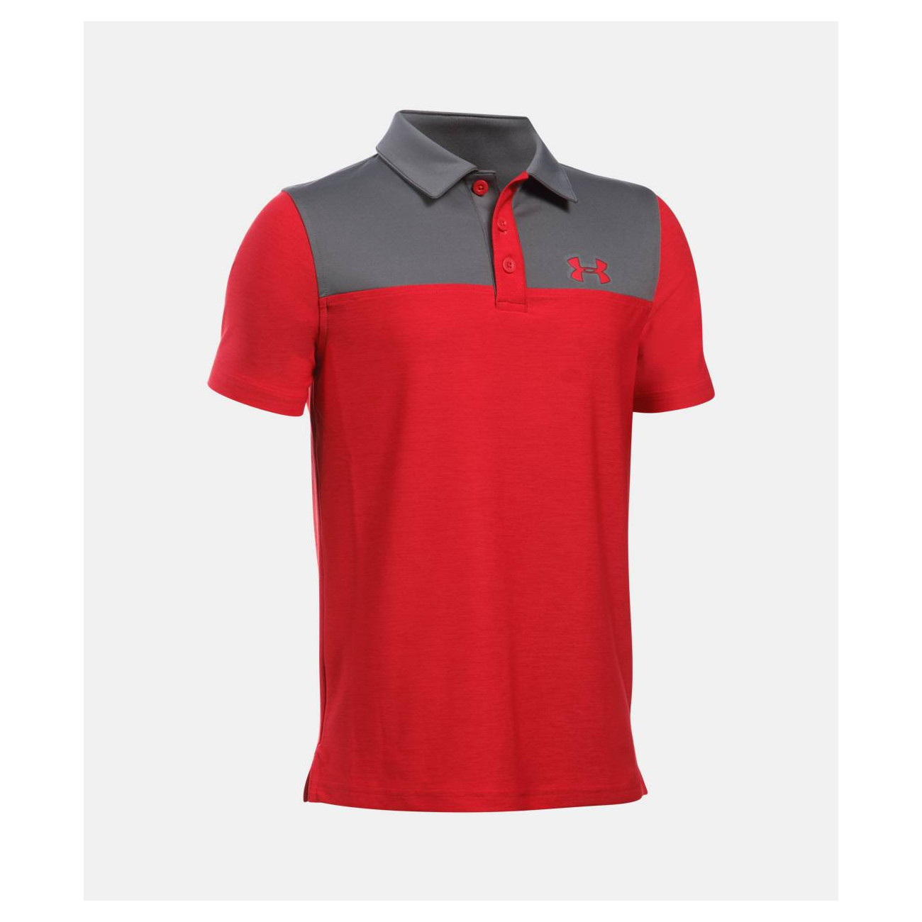 0e90e2f23 UnderArmour Match Play Blocked Junior Polo Shirt - O'Dwyers Golf Store