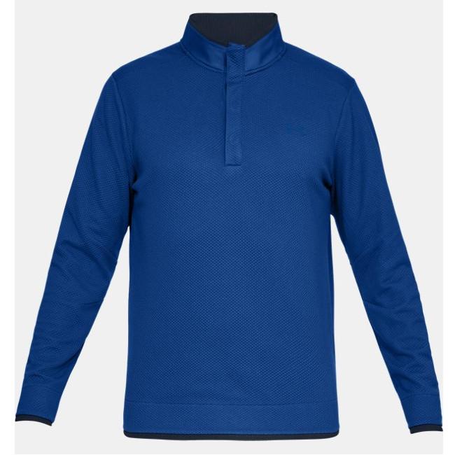 6d9790277 Under Armour Storm SweaterFleece Snap Mock Blue - O'Dwyers Golf Store