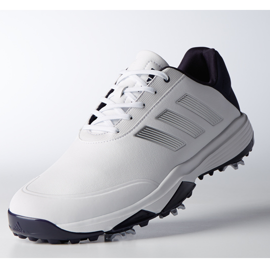 5bc7fa44e Adidas Adipower Bounce WD golf shoes White Silver Navy