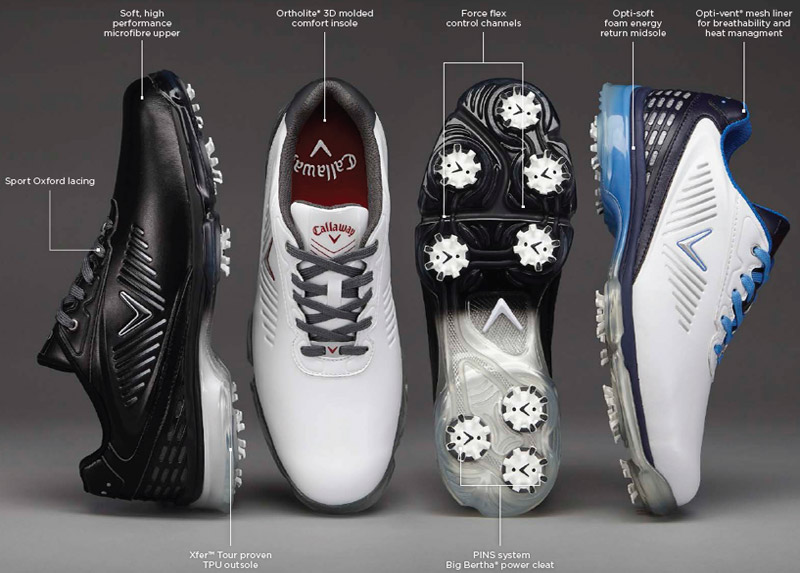 pretty nice various colors info for Callaway Xfer Nitro Golf shoes White UK10 - O'Dwyers Golf Store