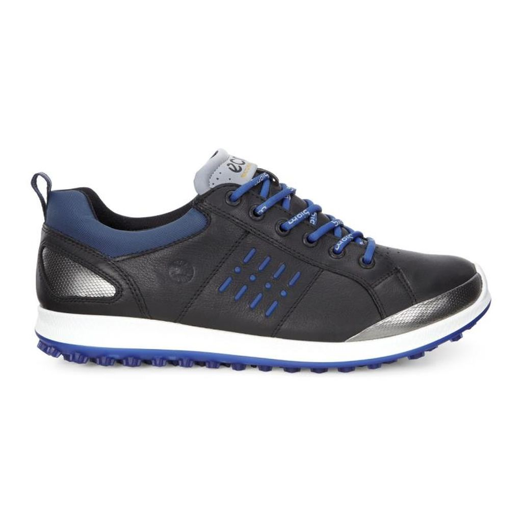 Ecco Men S Biom Hybrid 2 Gore Tex Golf Shoes Black Royal