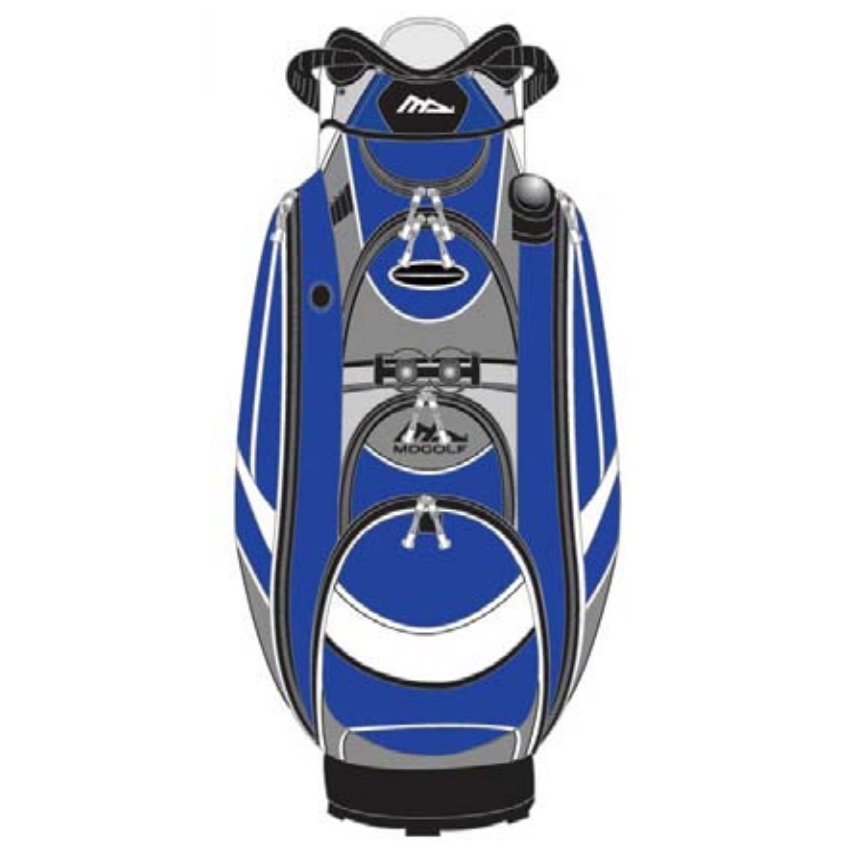 Md Admiral Deluxe Cart Bag Blue O Dwyers Golf Store