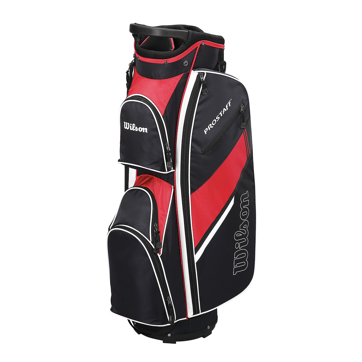 046d0ea6a0d9 Wilson Prostaff Cart Bag Black Red